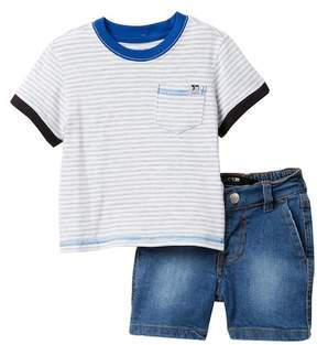 Joe's Jeans 2-Piece Short Sleeve Tee & Shorts Set (Baby Boys)