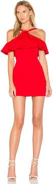 Susana Monaco Flounced Overlay Dress