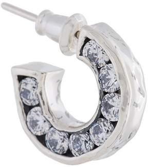 E.m. small crystal hoop earring