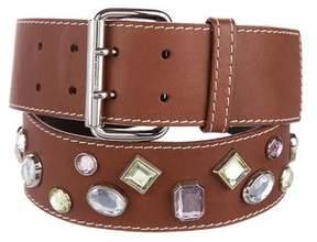 Celine Embellished Leather Belt