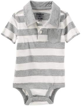 Osh Kosh Oshkosh Bgosh Baby Boy Striped Polo Bodysuit