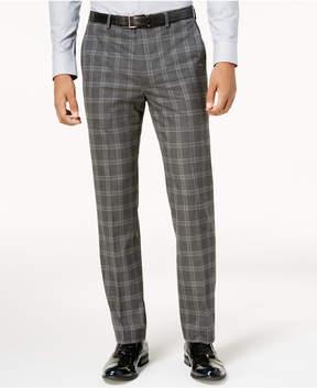 Sean John Men's Slim-Fit Gray Windowpane Pants