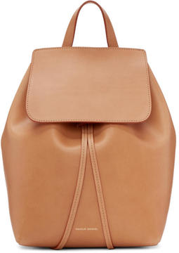 Mansur Gavriel Tan Leather Mini Backpack