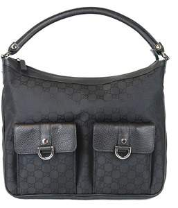 Gucci Black Abbey Hobo Nylon Handbag. - BLACK - STYLE