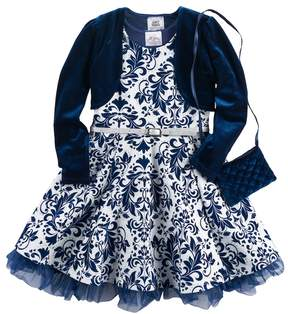 Knitworks Girls 4-6x Filigree Skater Dress