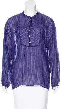 Band Of Outsiders Printed Long Sleeve Blouse