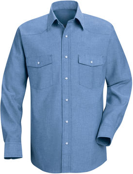 JCPenney Red Kap Deluxe Western-Style Shirt-Big & Tall