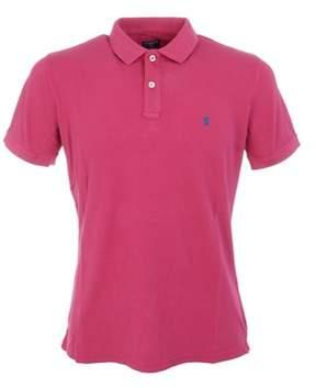 Jaggy Men's Fuchsia Cotton Polo Shirt.