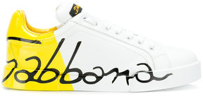 Dolce & Gabbana varnished logo sneakers
