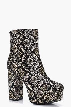 boohoo Baroque Extreme Platform Sock Boots