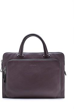 Calvin Klein Pebble Leather Portfolio Briefcase