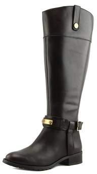 INC International Concepts Fabbaa Wide Calf Women Leather Brown Knee High Boot.
