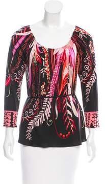 Elie Tahari Printed Silk Top