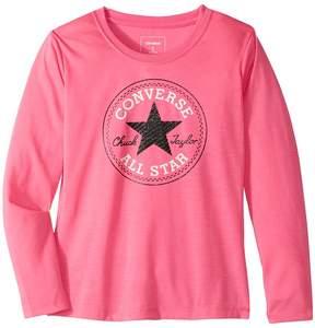 Converse Long Sleeve Chuck Patch Tee Girl's T Shirt