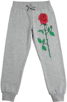 Mini Rodini Rose Print Organic Cotton Sweatpants