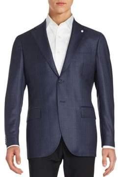 Lubiam Checked Wool Blazer