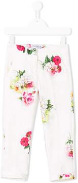 Simonetta floral print jacquard trousers