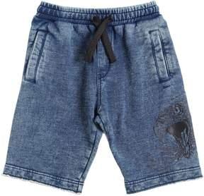 Diesel Denim Effect Cotton Sweat Shorts