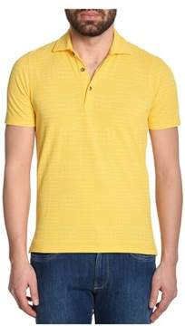 H953 Men's Yellow Cotton Polo Shirt.