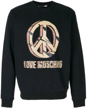 Love Moschino graphic print sweatshirt