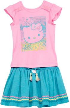 Hello Kitty Little Girls 2-Pc. Graphic-Print Top & Skirt Set