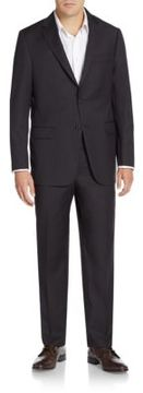Hickey Freeman Regular-Fit Textured Worsted Wool Suit