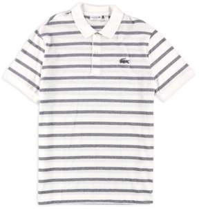 Lacoste Mens Striped Caviar Croc Rugby Polo Shirt