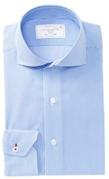 Lorenzo Uomo Track Stripe Trim Fit Dress Shirt