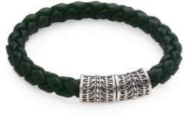 Stephen Webster Sterling Silver & Woven Rubber Bracelet