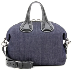 Givenchy Nightingale Small denim and leather tote