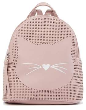 T-Shirt & Jeans Perforated Cat Nose Small Backpack