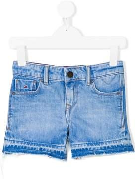 Tommy Hilfiger Junior frayed hem denim shorts