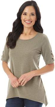 Apt. 9 Women's Lattice Sleeve Tee