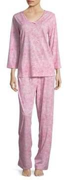 Carole Hochman Printed Cotton Pajamas
