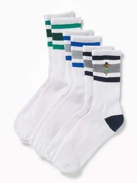 Old Navy 3-Pack Striped Crew Socks for Men