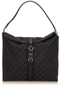 Gucci Pre-owned: Guccissima Jacquard Jackie. - BLACK - STYLE
