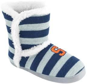 NCAA Women's Syracuse Orange Striped Boot Slippers