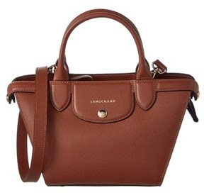 Longchamp Le Pliage Heritage Small Leather Top Handle. - GREY - STYLE