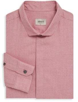 Armani Collezioni Regular-Fit Solid Dress Shirt
