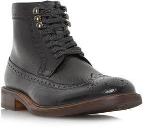 Dune London CARNABY - BLACK Flecked Lace Brogue Boot