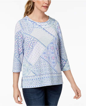 Alfred Dunner Daydreamer Patchwork Print Top