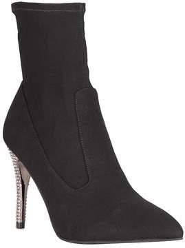Nina Roxie Jeweled Heel Ankle Boots