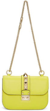 Valentino Yellow Garavani Small Lock Bag