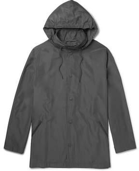 Balenciaga Printed Faille Hooded Jacket