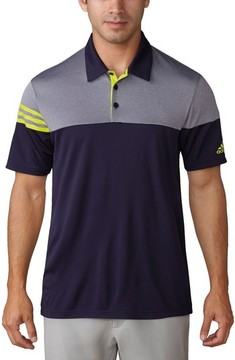 adidas Men's 3 Stripe Block Golf Polo