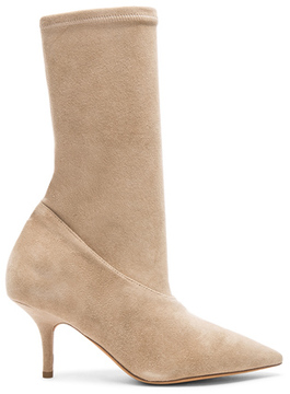 Yeezy Season 5 Suede Ankle Boots in Neutrals.