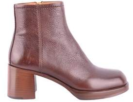 Car Shoe Women's Brown Leather Ankle Boots.