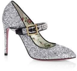 Gucci Sylvie Glittery Stiletto Mary Jane