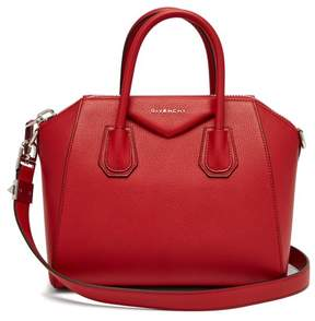 Givenchy Antigona Small Grained Leather Bag - Womens - Red