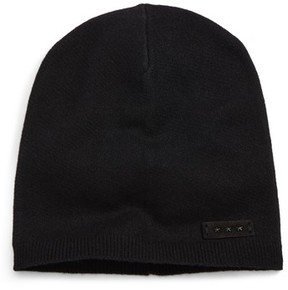 John Varvatos Men's Slouch Cashmere Knit Cap - Black